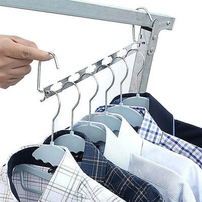 Multi Function Stainless Steel Clothes Rack Hook Space Saves Magic Hanger