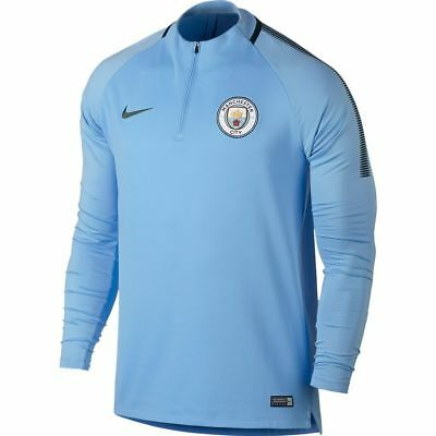 Nike Manchester City FC Official 2017 - 2018 MidLayer Soccer LS Training Top Sky