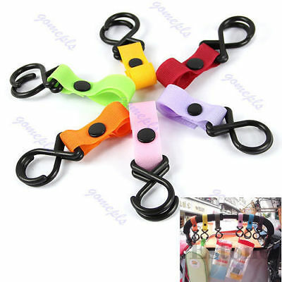 Plastic New Baby Stroller Hanger Pram Pushchair Hanging 2 Hooks Kit