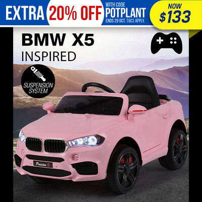 NEW ROVO KIDS Ride-On Car BMW X5 Inspired Electric Toy Battery Remote 12V Pink