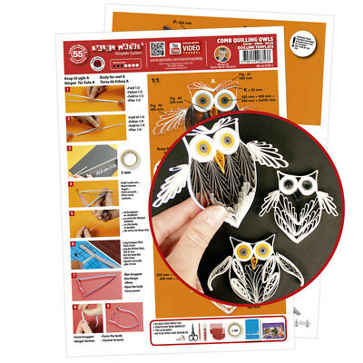 Quilling Template Owl comb (ohne Pappe)