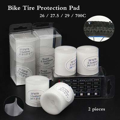 2X MTB Bike Bicycle Tire Liner Protection Tape Anti Puncture Proof Pad Mat 0.5mm