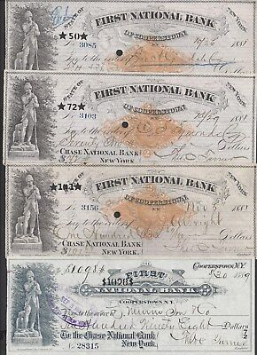 4 Cooperstown New York Drafts 1881-1889