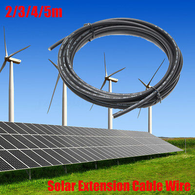 1/2/3/4/5m 2.5mm² Solar Panel Extension Cable Leads Wire For RV Boat Caravan