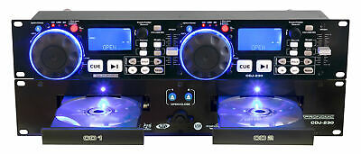"Pronomic Doppel DJ CD Player USB SD MP3 Pitch Bend Scratch Effekte Loop 19"" Rack"