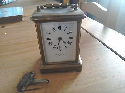 Mappin & Webb Paris Brass Carriage Clock ( Working with Key).