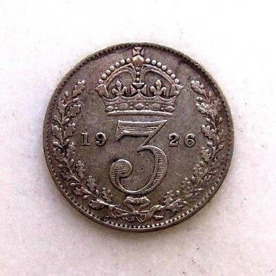 Great Britain Uk Coins, Threepence 1926, George V, Silver 0.500