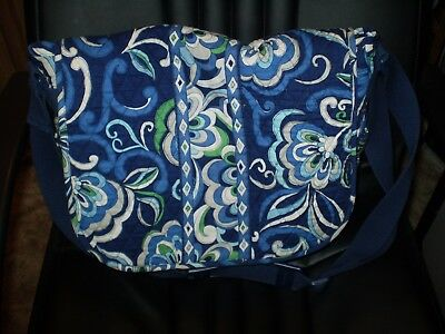 Messenger Bag-  NWOT- Retired Pattern Mediterranean Blue Sept. 2008 - Nov. 2009