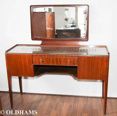 Original 1960's Mid Century HEALS of LONDON Rosewood Dressing Table with Mirror