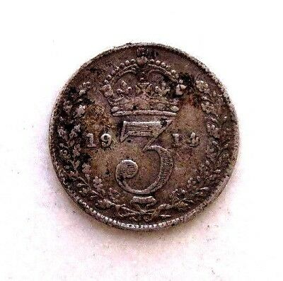 Great Britain Uk Coins, Threepence 1914, George V, Silver 0.925 ..
