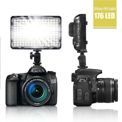 176 LED Ultra Bright Video Light with filters For Canon Sony Nikon Camera NEW