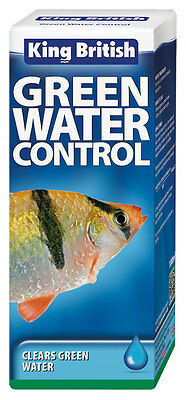 KING BRITISH AQUARIUM TREATMENT GREEN WATER CONTROL 100ml 5017357022048