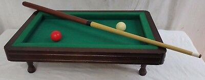 MINI BILLARD FRANCAIS Carambole Bois Tapis Queue Boule Rouge Blanche Bar Jeu J