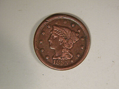 1855 Upright 5's  Large Cent