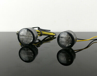 2 LED micro-, mini-Blinker indicators clignotants luz intermitente hinten rear