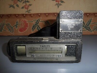 Vintage Marine Distance  Meter Pattern 703 Circa 1943 Henry Hughes & Son Limited