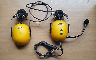 Sonic Peltor P9 Helmet-Mounted Military Aviation/Comms Headset with Mic NEW