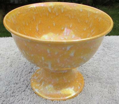 Rare Ruskin Footed Bowl - Rare Shape And Glaze - Dated 1925