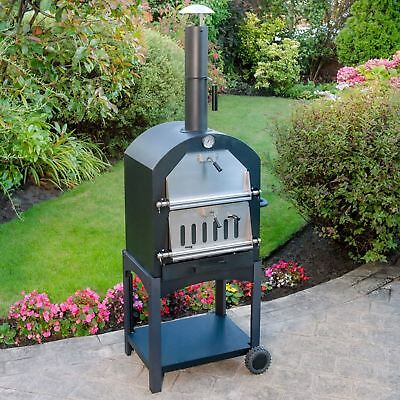 Multi-Function Portable Outdoor Garden Steel Barbecue Wood Fired Pizza Oven New