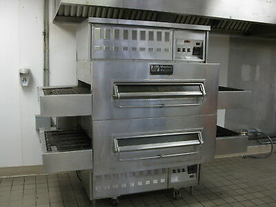 "Middleby Marshall 32"" Conveyor Belt Natural Gas Double Stack Pizza Oven"