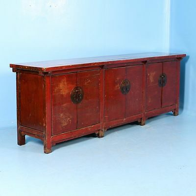 Antique Early 19th Century Red Lacquered Chinese Sideboard