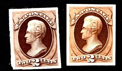 $US, SC# 157p3+157p4 Unused XF Plate Proofs on India Paper+card, CV $40.00