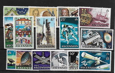 Ascension. 1971. Space. ½p to £1. mnh. (14)