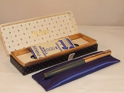 Vintage Parker 65 Consort Fountain Pen - Nr Mint - Mk1 - Navy Grey - C1970