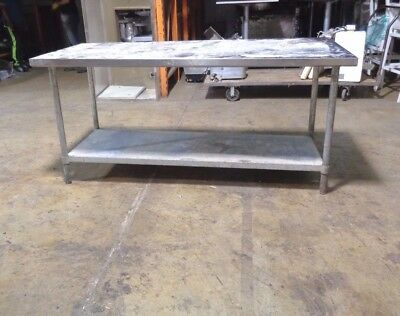 """Commercial Kitchen Stainless Steel Food Prep Work Table 72"""" x 30"""" Undershelf"""