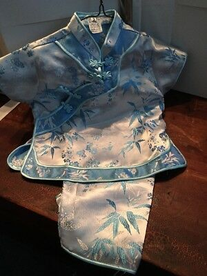 GIRLS CHINESE OUTFIT Blue SHIRT TOP & Pants Asian Traditional
