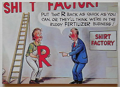 BAMFORTH, Saucy Comic, John Hinde No.3 - 1990's - Modern postcard