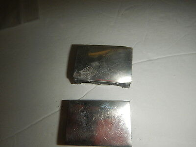 Two sterling silver match box covers old estate