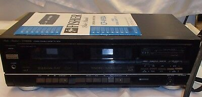 Fisher Stereo Double Cassette Deck CR-W680A Recorder Dual Tape Vintage