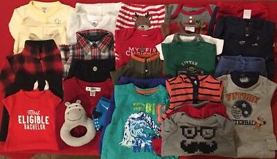 EUC Adorable Baby Boys Fall & Winter CLOTHES LOT Outfit Sets Newborn Lot # 1