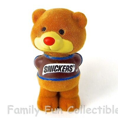 MARS~1987 Heartline PVC Figure~Snickers Bear~Candy Advertising Doll Toy~NEW NOS