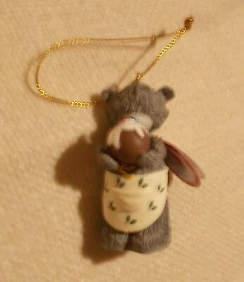 Me To You - Christmas Tree Hanging Decoration Figurine - Bear in Apron w Pudding