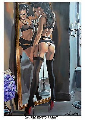 A3 Ltd Print / Nude Erotic Oil Large Canvas Lesbian Inerest Painting By Ellectra