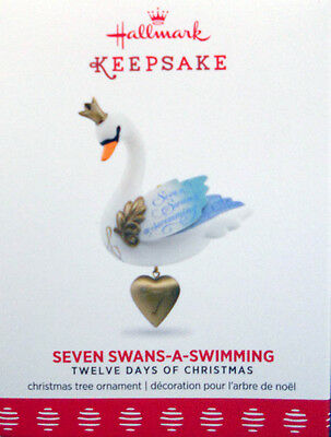 "2017 Hallmark ~""seven Swans-A-Swimming""-  #7 In The 12 Days Of Christmas Series"