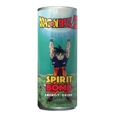 DragonBall Z Spirit Bomb Energy Drink 8.4 ounce Can NEW SEALED UNOPENED
