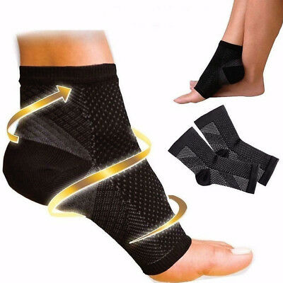 Men Women Ankle Foot Calf Compression Sleeve Arch Heel Pain Relief Support Socks