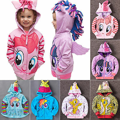 Kids Baby Girl Hoodie My Little Pony Wing Sweater Sweatshirt Coat Jacket Clothes