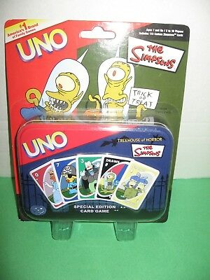 *NEW* Simpsons UNO Treehouse Of Horror Special Edition Card Game Tin