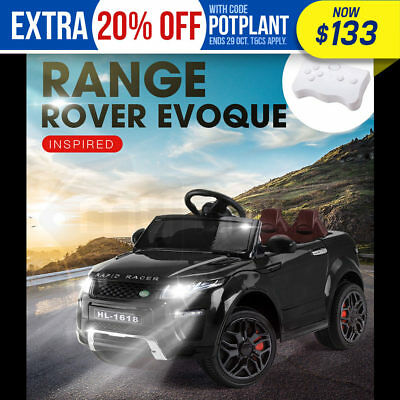 ROVO KIDS Ride-On Car RANGE ROVER EVOQUE Inspired Electric Toy Battery 12V Black