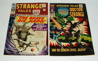 1965 / 67 Strange Tales Issue #139 & 163 Comic Books 7.0  And 6.5  Condition