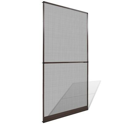 Brown Hinged Mesh Screen Door Anti-insect Fly Mosquito Fiberglass Net 120x240cm