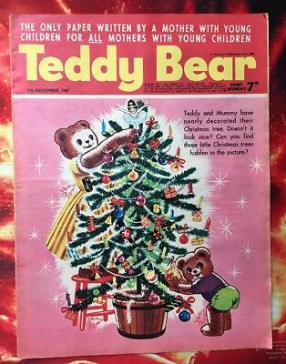Teddy Bear Comic. Christmas Cover.  9 Dec 1967. Vfn+. Puzzles Not Done.