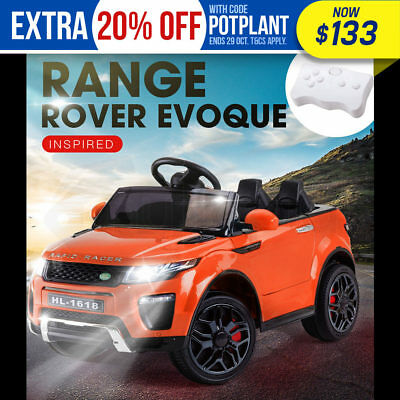 ROVO KIDS Ride-On Car RANGE ROVER EVOQUE Inspired Electric Toy Battery Orange
