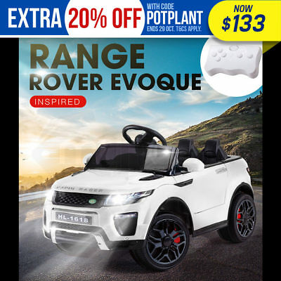 ROVO KIDS Ride-On Car RANGE ROVER EVOQUE Inspired Electric Toy Battery 12V White