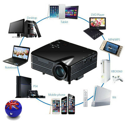 2000Lumens 1080P HD Home Cinema Theater Multimedia LED Projector AV VGA USB HDMI