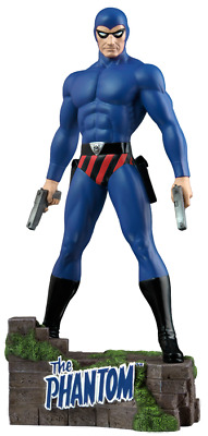 """Ikon Collectables--The Phantom - Ghost Who Walks 12"""" Statue - BLUE"""